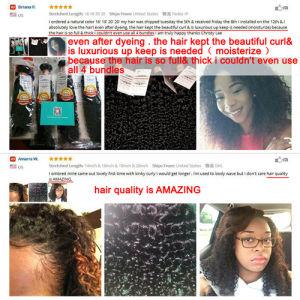Virgin Brazilian Human Hair Kinky Curly Virgin Hair pictures & photos