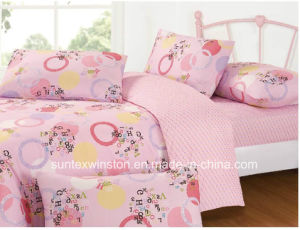 100% Polyester Microfiber Fabric for Kids Bedding Set New Products pictures & photos