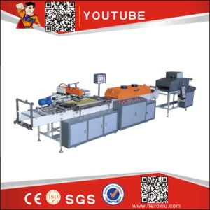 Hk-300 1-Color Fully Auto Mesh Trademark Printing Machine pictures & photos