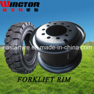 Factory Direct Supply Forklift Tire Rim Wheel (3.00d-8 4.00e-9) pictures & photos