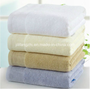 Mircofiber Towel Bleach or Dyed Bath Towel/Beach Towel/Hand Towel