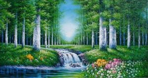 Wall Art Forest Landscape Painting Canvas Art (ETL-093) pictures & photos