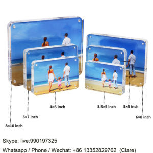 Oval Acrylic Children and Kids Magnetic Photo Frames pictures & photos