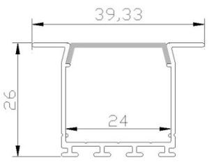 Line Lamp Aluminum Profile Aluminum Profile for LED pictures & photos