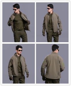 Au Esdy Softshell Waterproof Windproof Coat Military Tactical Commander Jacket pictures & photos