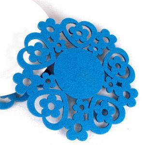 Felt Snowflake Coasters Glass Coaster Felt Balls Trivet pictures & photos