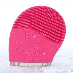Latest Popular Rechargeable Silicone Facial Brush with Vibration Massage