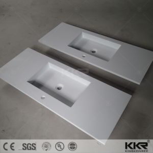 Modern Dining Room Furniture White Bathroom Vanity Top with Sink pictures & photos