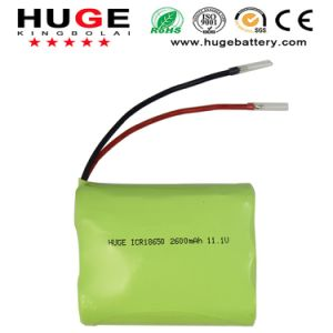 11.1V 2600mAh Kbl Lithium Battery Icr18650 pictures & photos