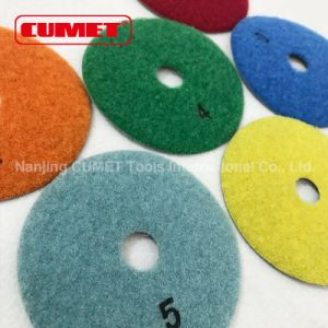 Dia-Plus 5 Inch Dry Diamond Polishing Pads pictures & photos