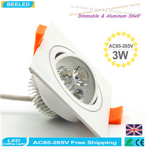 Square 3W Warm White LED Ceiling Lamp Dimmable LED Downlight pictures & photos