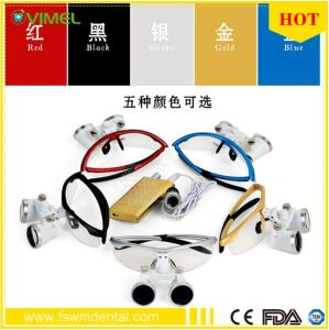 Dentist Surgical Binocular Dental Loupe and LED Head Light 2.5X/3.5X pictures & photos