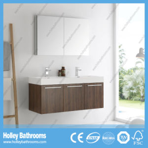 High Quality Wall Mounted Bathroom Furniture with 2 Basins and 5 Doors (BF383D) pictures & photos
