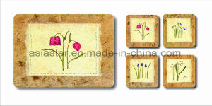 Square Pastoral Cork Coaster for Gift (CC22) pictures & photos
