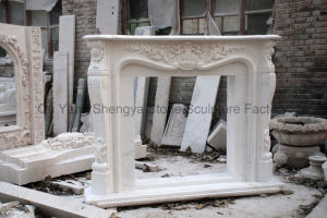 Flower Fireplace Marble Fireplace Stone Fireplace Mfp-024 pictures & photos