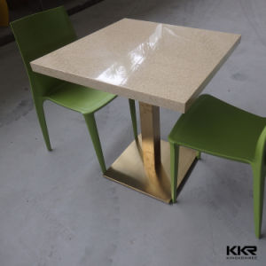 Kkr Modern Hotel Table Customized Solid Surface Dining Table pictures & photos