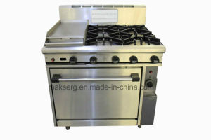 Piezo Ignition Stainless Steel Commercial Gas Range pictures & photos