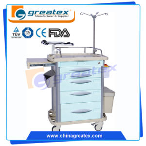 Five Drawers Medication Emergency Hospital Trolleys Hospital Cart pictures & photos