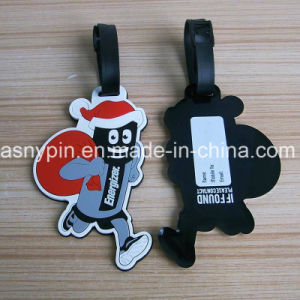 Soft PVC Cute Santa Claus 2D Luggage Tags pictures & photos