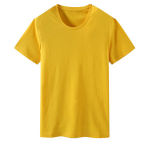 Custom Quality Cotton Lycra or Cotton Screen Man′s Pure Color T-Shirt of Round Neck pictures & photos
