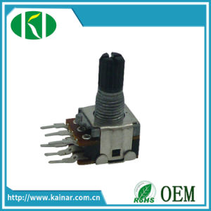 Jiangsu 12mm Dual Gang Rotary 10k Sealed Potentiometer Without Switch pictures & photos