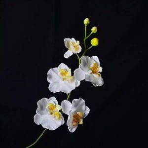 Real Touch Velvet Artificial Flower Butterfly Orchid Plant for Decoration pictures & photos