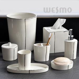 Platinum Porcelain Bathroom Set (WBC0843A) pictures & photos