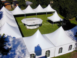 Multiple 4m X 4m Pagoda Tents Connected Together
