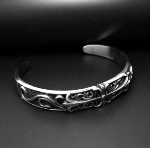 Vintage Men Cuff Bracelets Fashion Punk Accessories 316L Stainless Steel pictures & photos