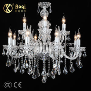 Modern Crystal Glass Candle Lamp (AQ0279-8+4) pictures & photos
