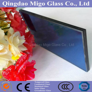 4mm Dark Blue Reflective+0.38PVB+4mm Dark Blue Float Glass pictures & photos