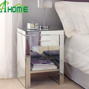 Wooden Two Drawer Bedroom Furniture Mirror Nightstand pictures & photos