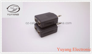 3.5mm Mono Plug to 2X6.35mm Mono Jacks pictures & photos