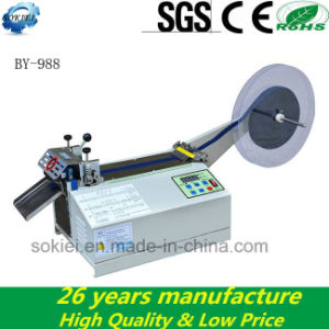 Microcomputer Cold Hot Knife Automatic Ribbon Nylon Tape Cutting Machine pictures & photos