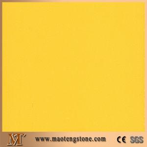 Supplier Elegant Slab Yellow Artificial Engineering Quartz Slab pictures & photos