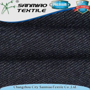 Indigo 100% Cotton280GSM Weight Terry Knit Denim Fabric pictures & photos
