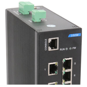 5 Port RJ45 and 3 Fiber Industrial Ethernet Network Switch pictures & photos