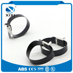 Black Color PVC Coated Metal Zip Cable Ties pictures & photos