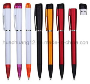 Hot Sale Promotional Ball Pen/Plastic Ball Pen with USB pictures & photos