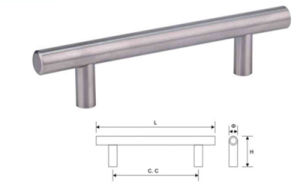 Stainless Steel Furniture Cabinet Hardware Door Pull Handle (T 001) pictures & photos
