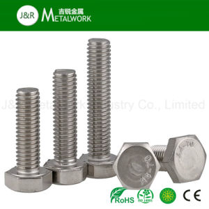 M8 M52 Ss SS304 SS316 Stainless Steel Hex Bolt DIN933 pictures & photos