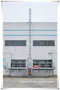 Gaoli Electric Mast Section Climbing Working Platform for Building pictures & photos