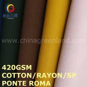 Knitting Cotton/Rayon/Sp Ponte Roma Fabric for Textile Industry (GLLML483) pictures & photos