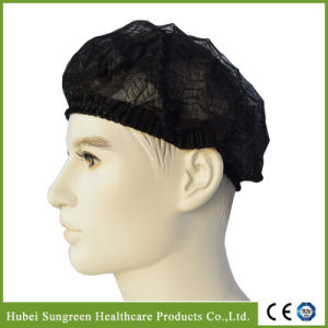 Disposable Nonwoven Clip Cap, Mob Cap, Bouffant Cap, Mop Cap pictures & photos