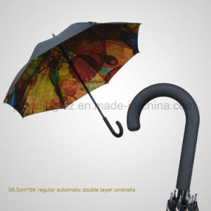 Double Layer Regular Automatic Fashion Umbrella pictures & photos