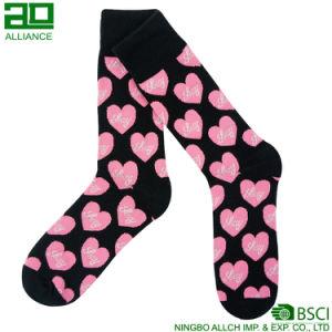 Love Heart Pattern Wholesale Dress Cotton Socks pictures & photos