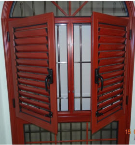 Woodgrain Aluminium Arch Shutter Window (BHA-CWA31) pictures & photos