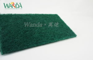 5PCS Hot Sale Kitchen Cleaning Pad Green Abrasive Scouring Pad pictures & photos