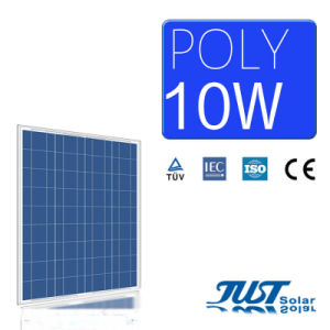 10W Polycrystalline Silicon Solar Panel with Certification of Ce CQC and TUV