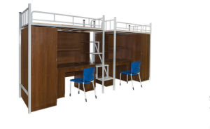 Modern Shool Furniture Steel Metal Bunk Dormitory Bed (HX-JY003) pictures & photos